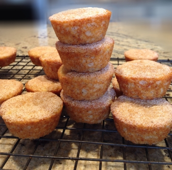 Mini Banana Cinnamon Sugar Muffins